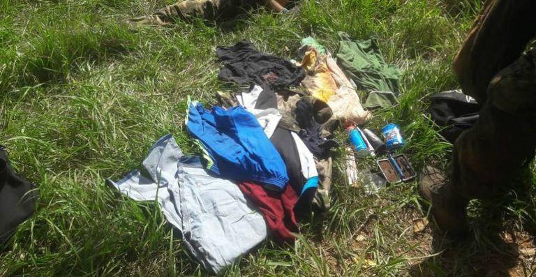 Restos del operativo en el que fue muerto Reinaldo Araújo, uno de los líderes del PCC ocultos en Paraguay.