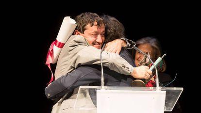 Xosé Hermida recebe em Ferrol o Prêmio José Couso à Liberdade de Expressão.