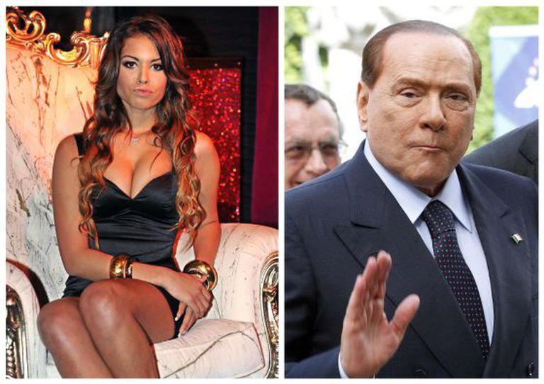 A marroquina Karima El Mahroug, a Rubi parte corações, e o ex-presidente Silvio Berlusconi