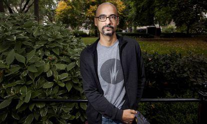 O escritor norte-americano de origem dominicana Junot Díaz, em 2013 em Nova York