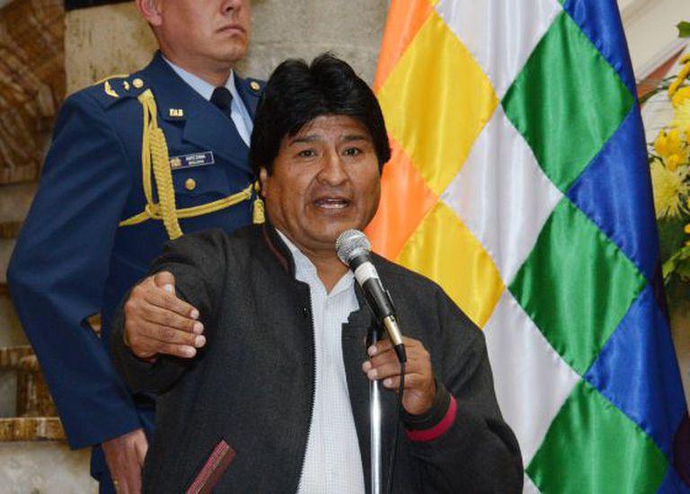 Evo Morales em coletiva de imprensa, na última sexta-feira. EFE/ABI