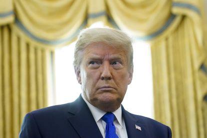 Donald Trump na segunda-feira na Casa Branca.