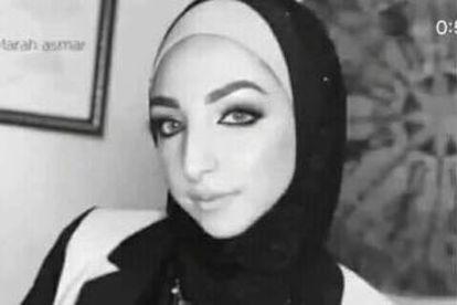 Israa Ghrayeb, em uma imagem de Facebook.