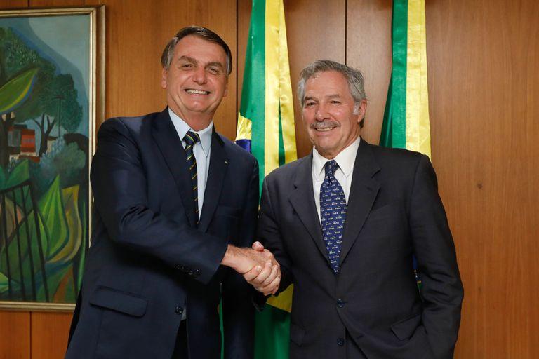 Presidente Jair Bolsonaro  se reuniu, nesta quarta-feira, com o chanceler argentino Felipe Solá.