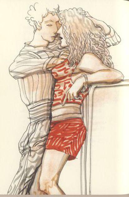Ilustração de Manuel Alcorlo para 'Escritos Pornográficos', de Boris Vian.