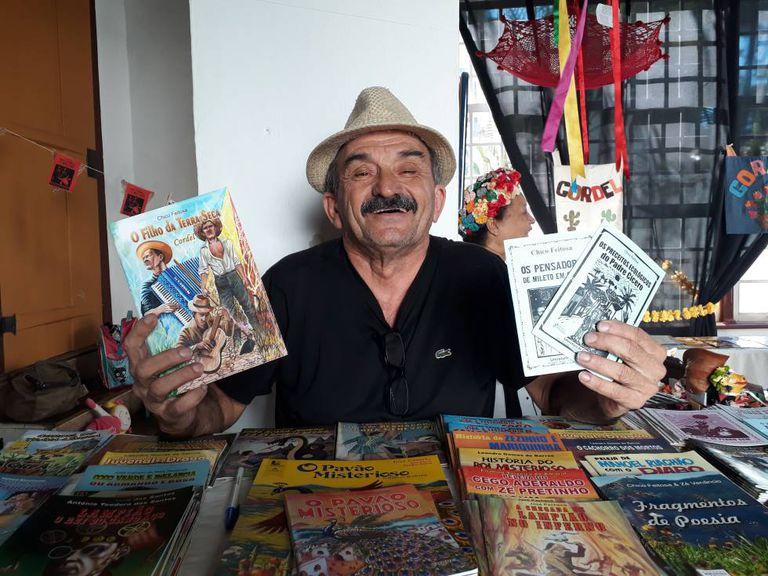 O cordelista Chico Feitosa, na Flip.