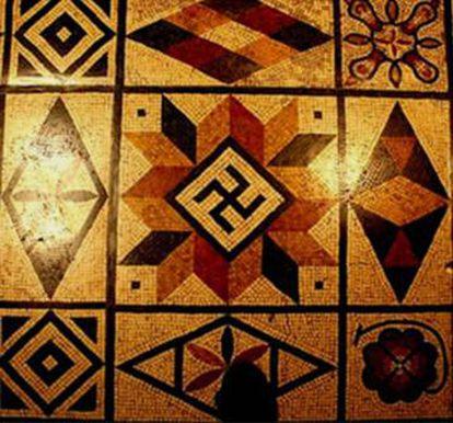 Mosaico romano em Lyon (França).