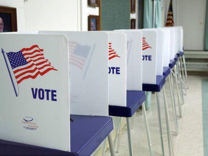 Cabines eleitorais nos EUA