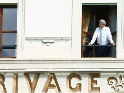 Kerry, durante pausa nas negociações nesta quarta-feira.