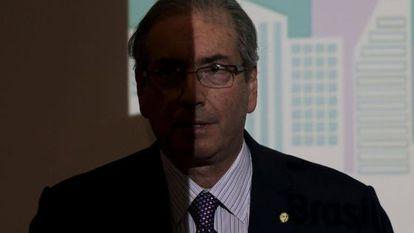 Cunha durante um seminário em Brasília.
