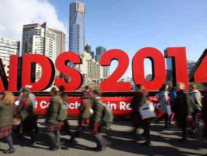 Conferência de Melbourne sobre Aids recebeu 20.000 pessoas.