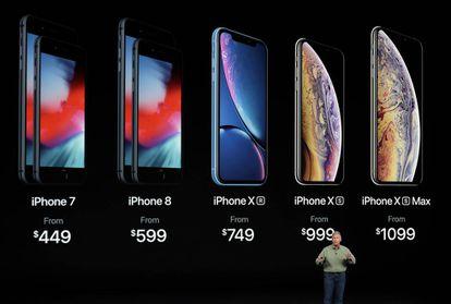 Os novos modelos de iPhone.