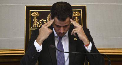 Juan Guaidó, nesta semana na Assembleia Nacional.