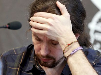 Pablo Iglesias, em Madri nesta quinta-feira.