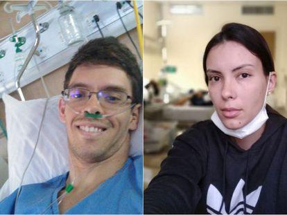 Os primos Rafael e Thaís Teixeira, ambos contaminados pelo coronavírus no Ceará.