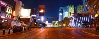 A Strip de Las Vegas, vazia desde o dia 5 de maio.