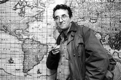 O escritor chileno Roberto Bolaño, em 1997.