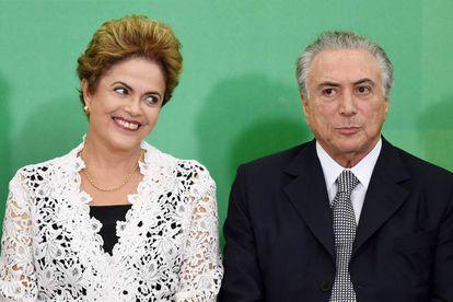 Rousseff e Temer, em 5 de outubro de 2015.