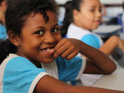 Crianças da Escola Municipal São José dos Índios, em São José do Ribamar, no Maranhão.