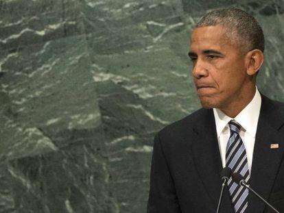 Barack Obama durante seu último discurso como presidente dos EUA na Assembleia Geral da ONU