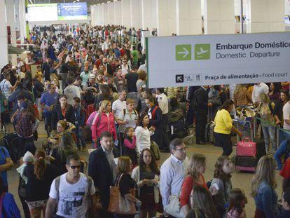 Aeroporto de Brasília, nesta segunda-feira.