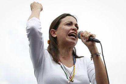 Corina Machado, em um protesto o passado 8 de junho.