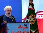 El presidente iraní, Hasan Rohaní, la semana pasada durante el anuncio de un nuevo sistema anti misiles.