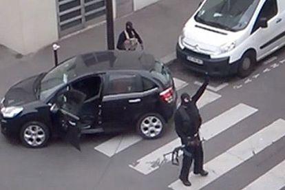 Os irmãos Kouachi depois da matança no 'Charlie Hebdo'.