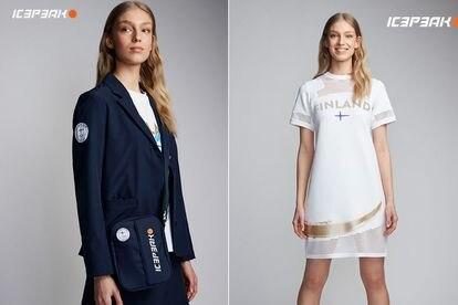 O uniforme olímpico da Finlândia.