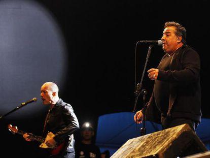 Edgard Scandurra (à esq.) e Nasi, na Virada Cultural.