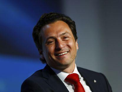 Emilio Lozoya Austin durante um evento em Houston, em março de 2014.