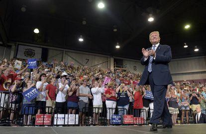 Trump em comício na Virginia Ocidental na semana passada.