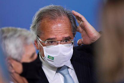 O ministro da Economia, Paulo Guedes, no dia 12 de janeiro, em Brasília.