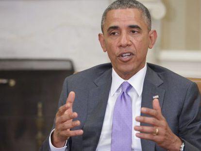 O presidente Obama durante a reunião bilateral com o primeiro-ministro australiano na Casa Branca, nesta quinta-feira.