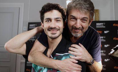 Ricardo e Chino Darín, em setembro, em San Sebastián.