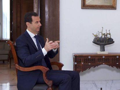 Bashar al-Assad em entrevista para a TV russa.