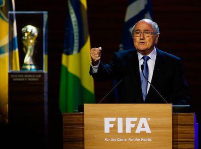 Blatter, no congresso da FIFA.
