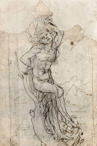 """'São Sebastião"""" (circa 1482) atribuído a Leonardo Da Vinci."""