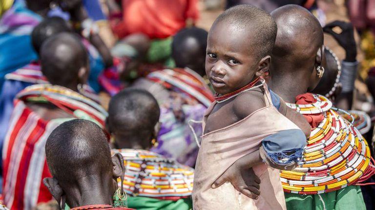 Uma criança da etnia samburu no Quênia