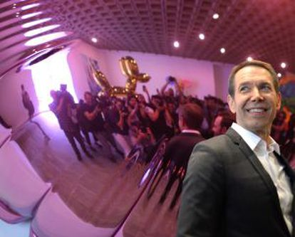 Jeff Koons, na apresentação à imprensa da exposição.
