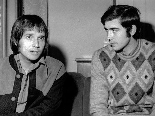 Roberto Carlos e Juan Manuel Serrat, em 1968.