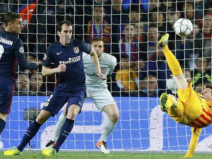 O Barça venceu por 1 a 0 na ida.