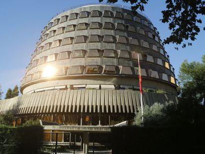 Fachada do Tribunal Constitucional, nesta quarta-feira.