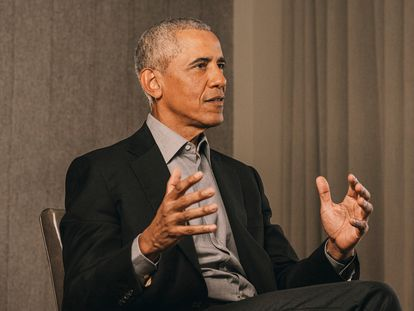 Entrevista com Barack Obama em Washington.