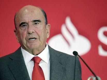 O presidente do Banco Santander, Emilio Botín.