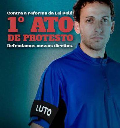 Jogadores prometem novos atos caso reformas do futebol avancem no Congresso.