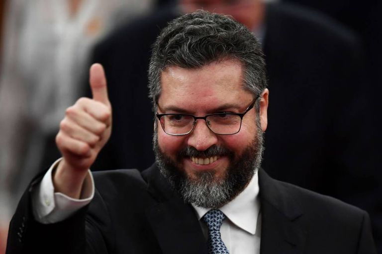 Ernesto Araújo, o futuro chanceler do Brasil, em foto tirada em 10 de dezembro.