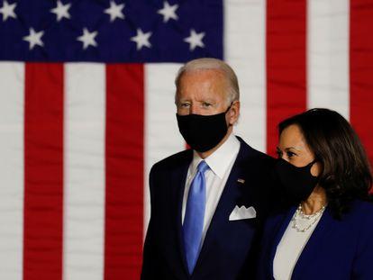 Biden e Harris se apresentam como companheiros de chapa nesta quarta-feira.