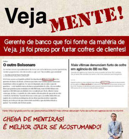 Imagem divulgada para combater reportagem da revista Veja.