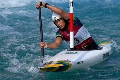 Ana Sátila, que representou o Brasil na canoagem slalom.